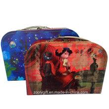 Hecho a mano decorativo personalizado de cartón de papel Maleta Kid regalo maleta