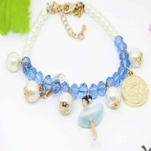 Wholesale Fashion New Design Alloy Charm Bead Bracelet for Girls