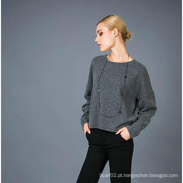 Lady's Fashion Cashmere Blend Sweater 17brpv004