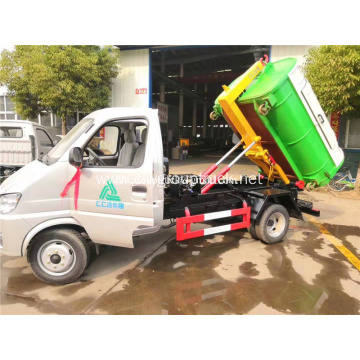 Changan small garbage truck with trash can