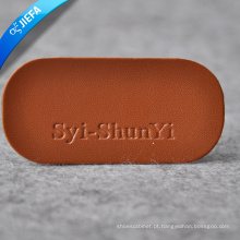 Alta qualidade mais novo design etiqueta de couro amarelo para sacos