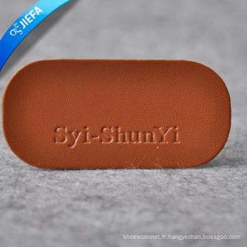 Étiquette en cuir faite sur commande en cuir gravée par coutume / PU de cuir pour des jeans