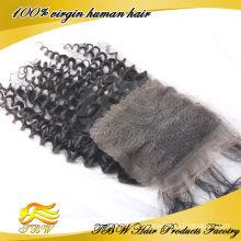 Оптовая естественная часть закрытие волос девственницы индийские закрытие волос кусок