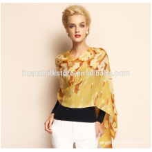 Bufanda de la impresión de la pantalla de la señora bufanda promocional de la tela de las lanas del 100%