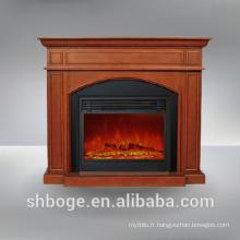 Manteau de cheminée électrique en MDF de bonne qualité, prêt à l'emploi