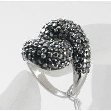 New Fashion Jewelry Wholesale Rhinestone Studded flower Finger Ring