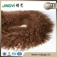 Оптовая Длинные Волосы Курчавый Мех Тибетской Монгольской Кожи Ягненка Шарф