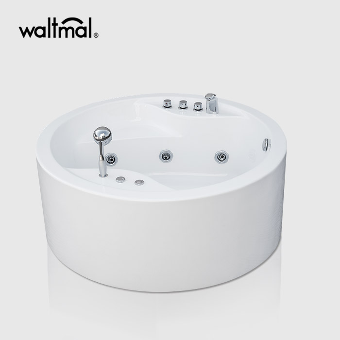 Alonsa Whirlpool Bath dengan Faucet Deck-Mounted
