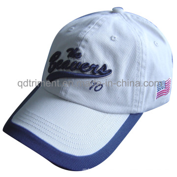 Washed Chino Twill Custom Embroidery Leisure Baseball Cap (TMB09740)