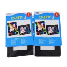 Tarjeta de rasguño de animales de papel de tarjeta de arte 2017