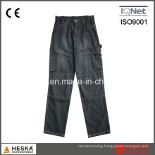 High Quality 100%Cotton Breathable in Black Color Men Jeans