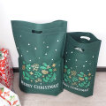 Christmas Green Non-woven Shopper Tote Bags