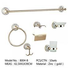 Nouveau carré DesignZinc alliage chrome matériel accessoires de bain de toilette, ensemble d'accessoires de salle de bain d'hôtel