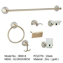 New Square DesignZinc Alloy chrome hardware toilet bath accessories , hotel bathroom accessories set
