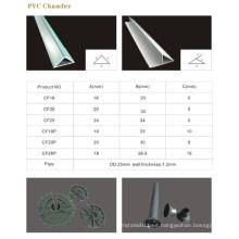 Chaflán de PVC, tubería y accesorios