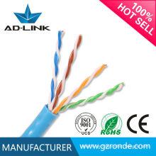 Heiße neue Produkte 100% reine Kupferdurchlaufflasche neue blaue Farbe PVC-Jacke Hochgeschwindigkeits-Kat5e-Kabel