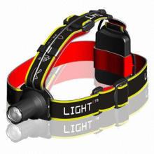 Cree LED Camping Headlamp with High Beam/Low Beam/Strobe/SOS Signal