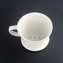 White Simple Coffee Dripper Ceramic Custom