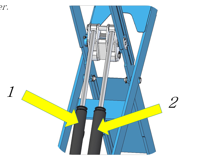 wheel alignment lift cylinders