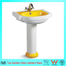 Ovc-A7114y Banheiro cerâmico de luxo lavatório amarelo