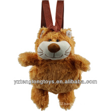 Factory Wholesale Animal Shaped Plush Backpack Cat Backpack