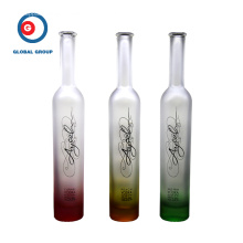 Fruit Vodka Glass Bottle Gradual Color Printing