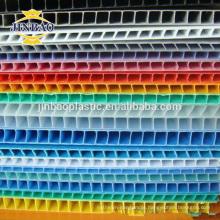 JINBAO Rich Color Personalizado PP Corrugado pp plástico núcleo flue sheet oco