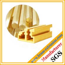 Golden red copper bar