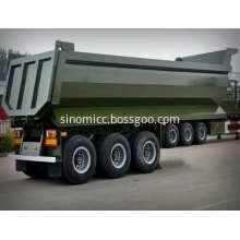 U mode 3 Axle Dump Truck Trailer