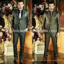 Novos trajes de vestidos de casamento de estilo masculino 2014 Últimos conjuntos de roupas de homem com dois botões sólidos NB0574