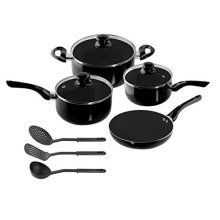 10 PCS Set Healthy Nonstick Carbon Steel Cookware Set Pots