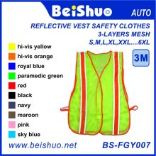 Polyester Mesh General Purpose Safety Vest with Orange Reflective Stripe