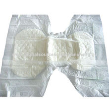 Comfrey Adult Diapers with Double Replaceable Plastic Adhesive Tabs and Soft Breathable Cover