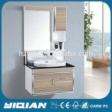 Porta de vidro montada em parede de design moderno Hangzhou com lâmpada Ideias de banheiro em PVC