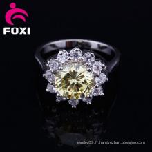 Nouveaux anneaux de pierres précieuses en gros plaqué or de conception
