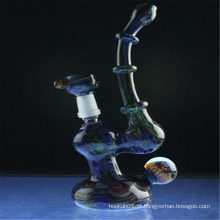 Marbled Fume cor trabalhado Bubbler Rig para fumar pessoas (ES-HP-006)