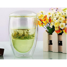 Office Glass Tea Cups/Mugs with Infusion for Promotion Gifts