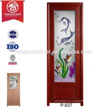 China Wholesale Custom UPVC Plastic Toliet Bathroom Doors, with Forested Glass or Withour Glass