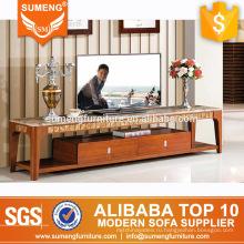 высокое качество гостиная мебель современный твердой древесины стойки TV мрамора
