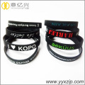 debossed embossed silicone bracelet with logo