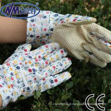 Luvas de jardim de couro flor NMSAFETY para mulheres
