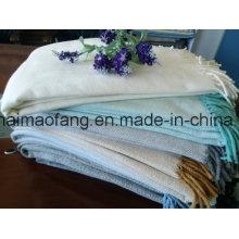 Tiro tejido de algodón en espiga con flecos