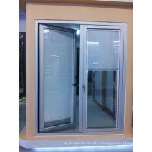 Стеклянная дверь с алюминиевым боковым стеклом