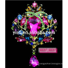 luxury large gem stone alloy fashion brooch