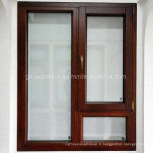 Fenêtre à battant en bois en aluminium de luxe / fenêtre pivotante / fenêtre inclinable et tournante