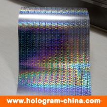 Lámina de estampado en caliente holográfica personalizada 3D Rainbow Rainbow