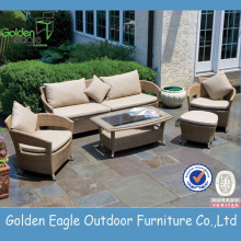 Aluminium Material Rattan & Wicker Outdoor-Sofa-Set