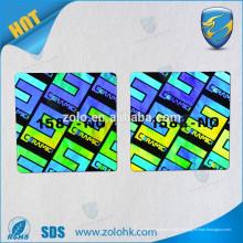 Accepte la commande personnalisée et la caractéristique holographique Autocollant hologramme 3D