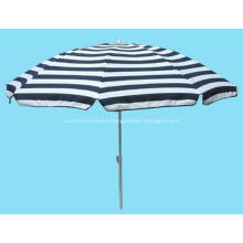 Stripe Fabric Beach Tilt Straight Flap Umbrella