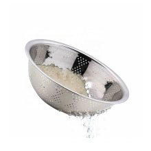 large size metal household kitchen colander bowl stainless steel rice strainer